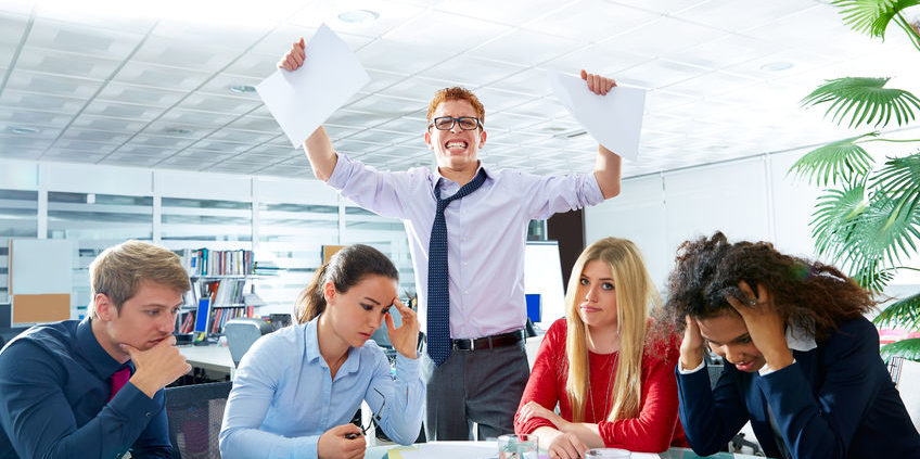 41299789 - business meeting sad expression bad negative gesture young teamwork