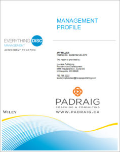 Everything DiSC Management Profile with Padraig Logo